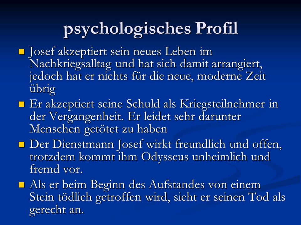 psychologisches Profil