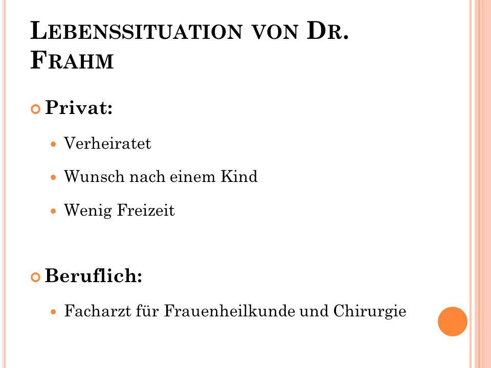 Lebenssituation von Dr. Frahm
