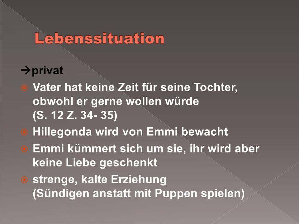 Lebenssituation privat