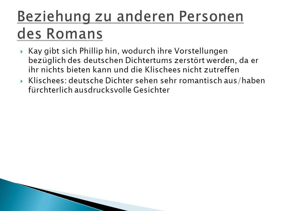 Beziehung zu anderen Personen des Romans