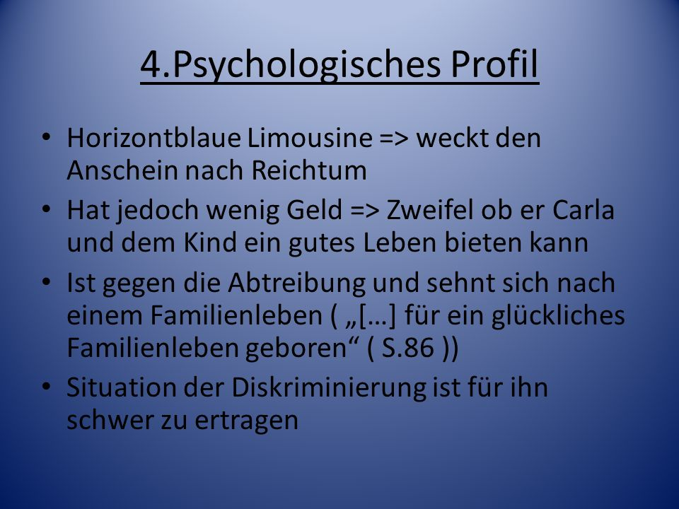 4.Psychologisches Profil