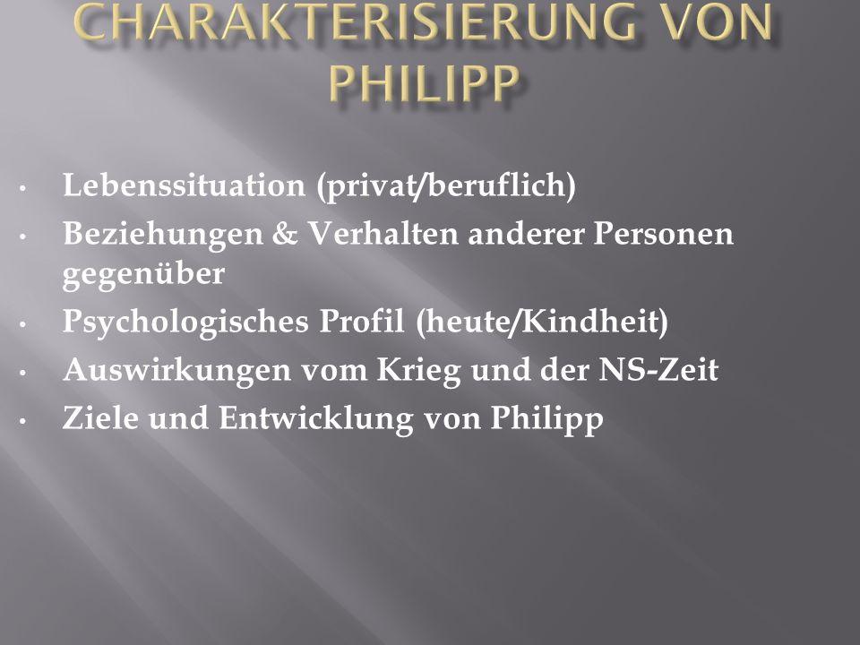 Charakterisierung von Philipp