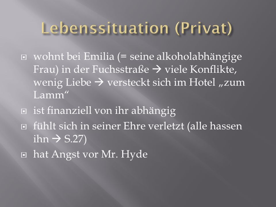 Lebenssituation (Privat)