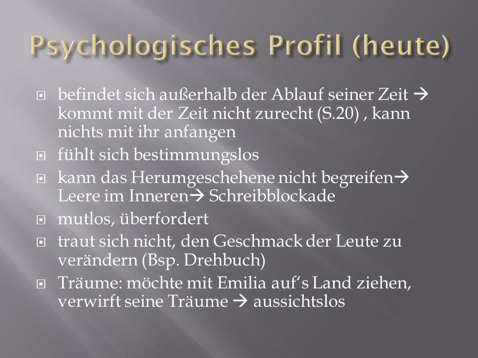Psychologisches Profil (heute)