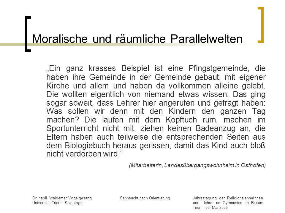 Moralische und räumliche Parallelwelten