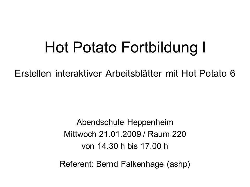 Hot Potato Fortbildung I