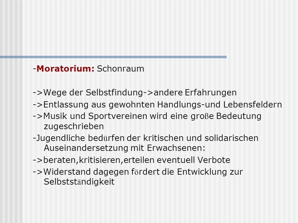 -Moratorium: Schonraum