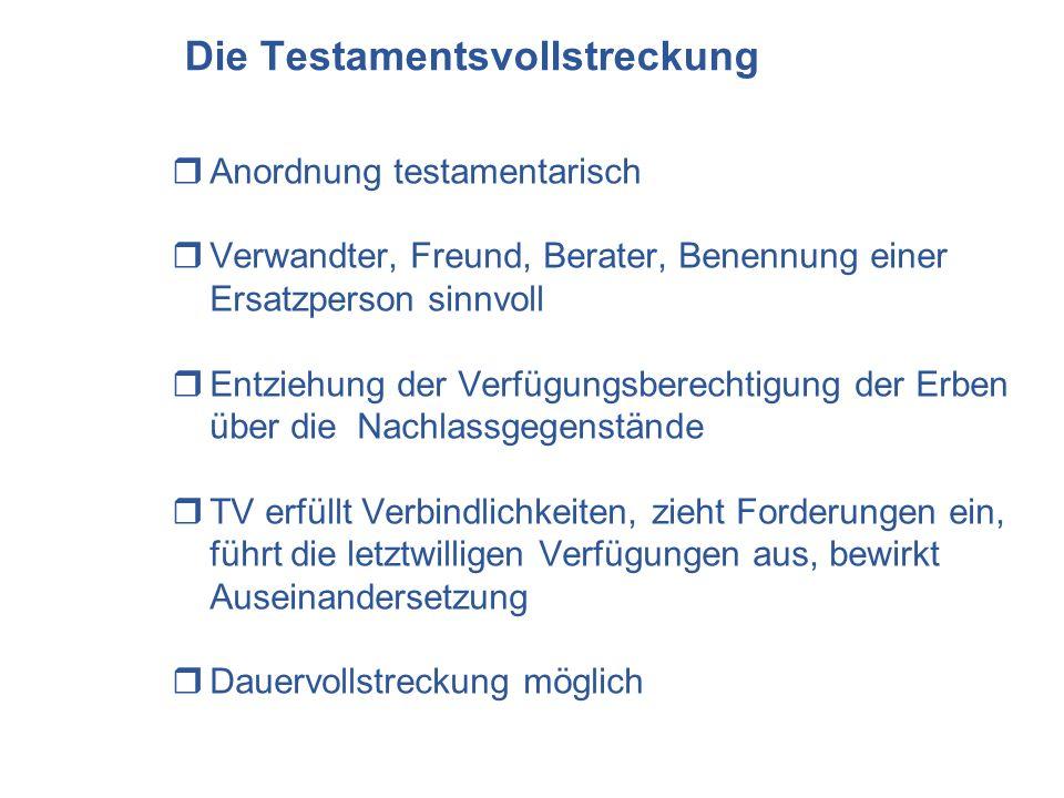 Die Testamentsvollstreckung