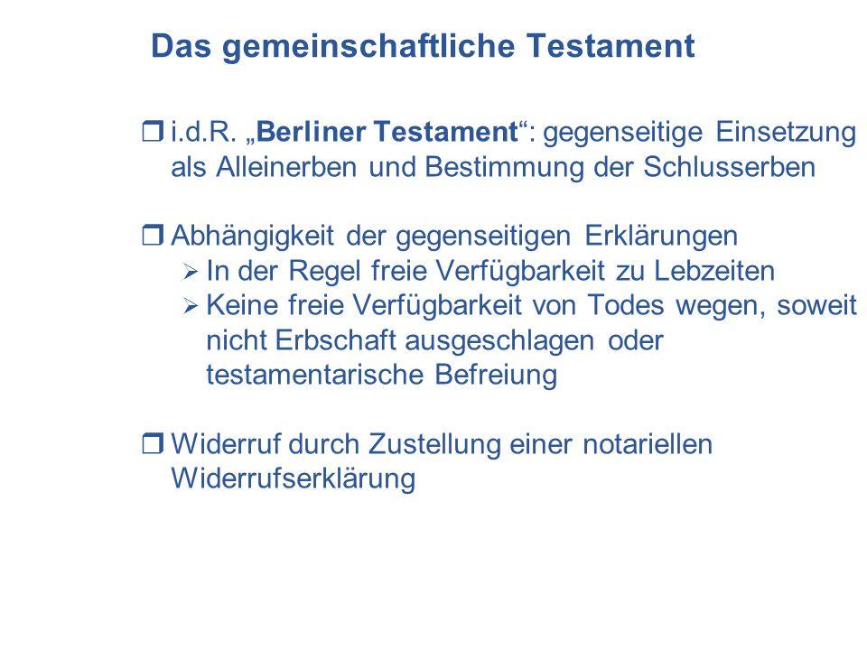Das gemeinschaftliche Testament
