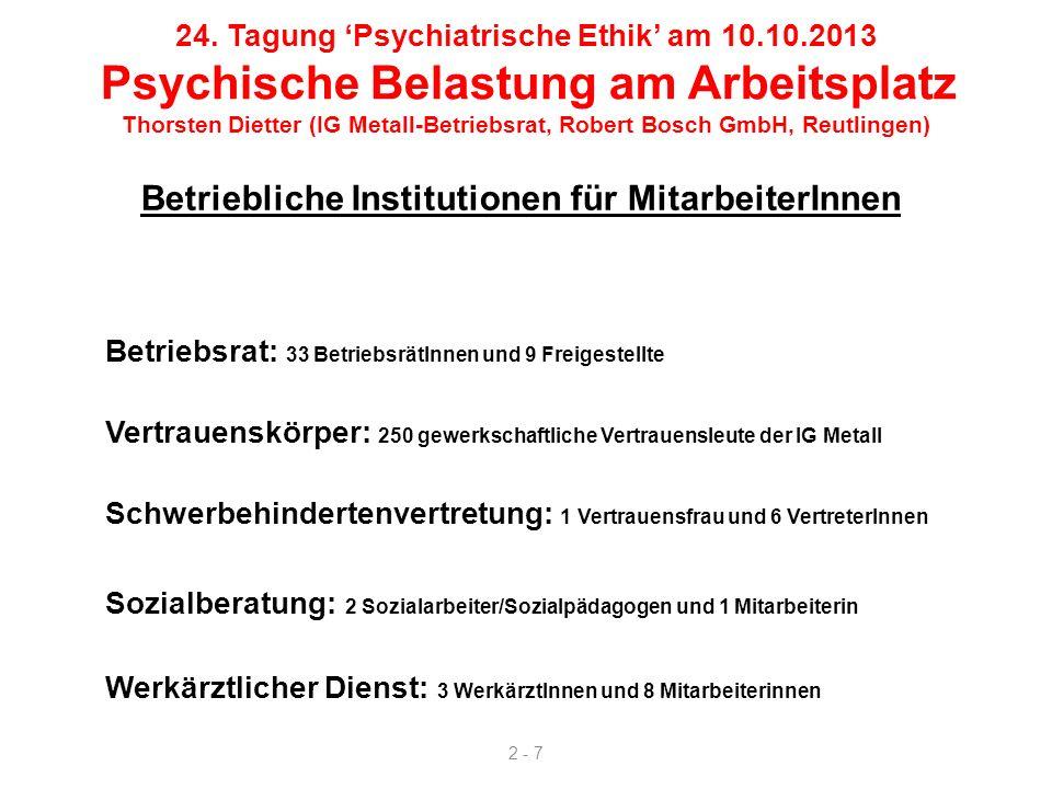 Betriebliche Institutionen für MitarbeiterInnen