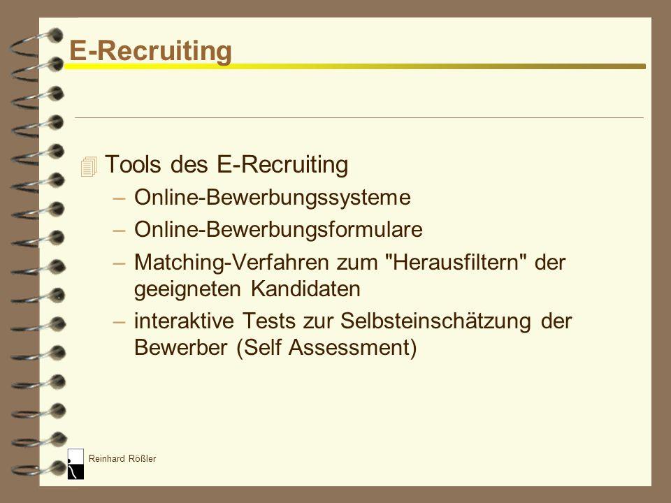 E-Recruiting Tools des E-Recruiting Online-Bewerbungssysteme