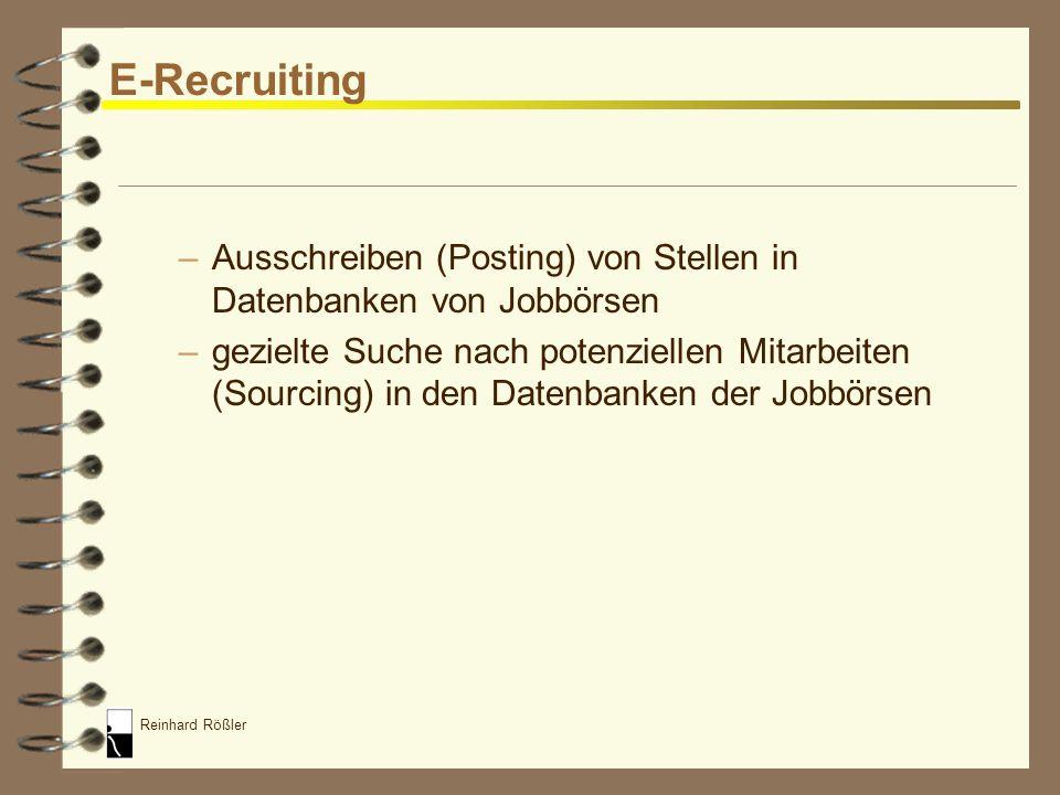 E-RecruitingAusschreiben (Posting) von Stellen in Datenbanken von Jobbörsen.