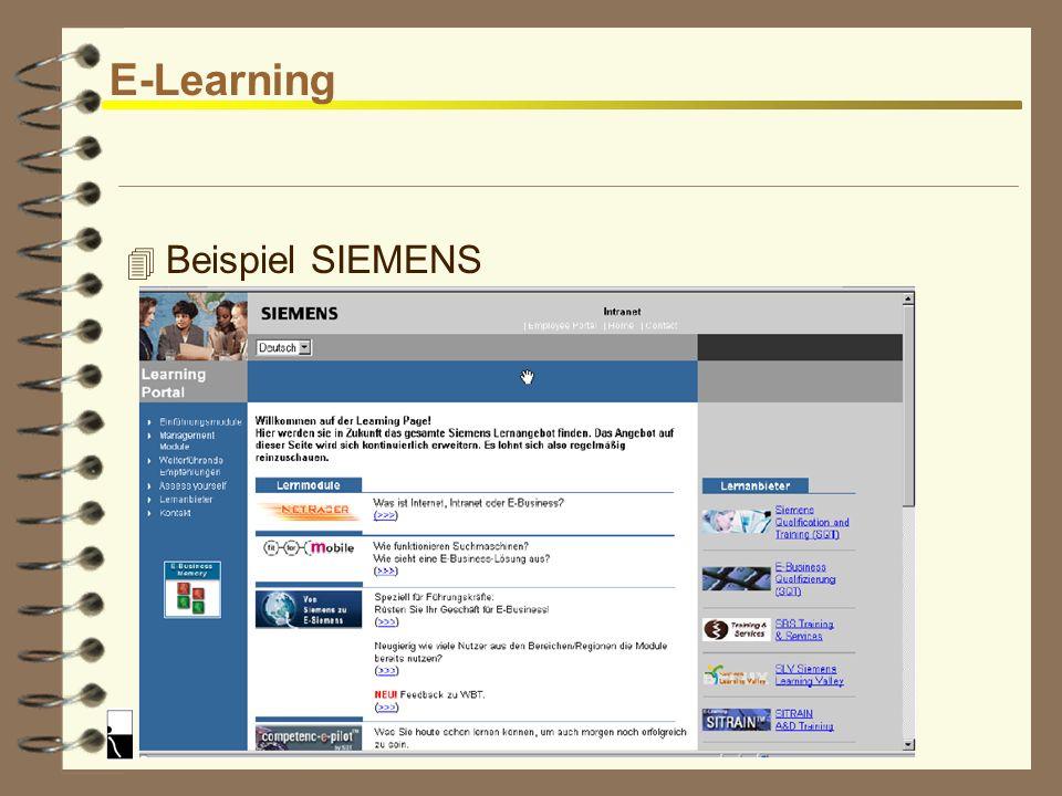 E-Learning Beispiel SIEMENS