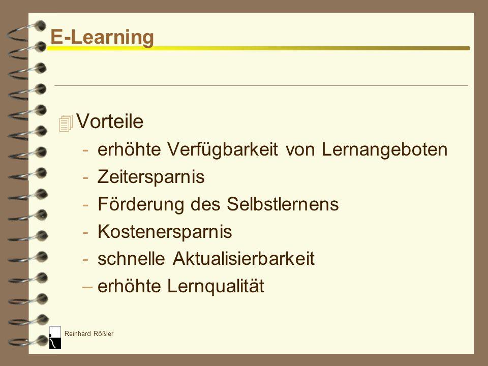 E-Learning Vorteile erhöhte Verfügbarkeit von Lernangeboten