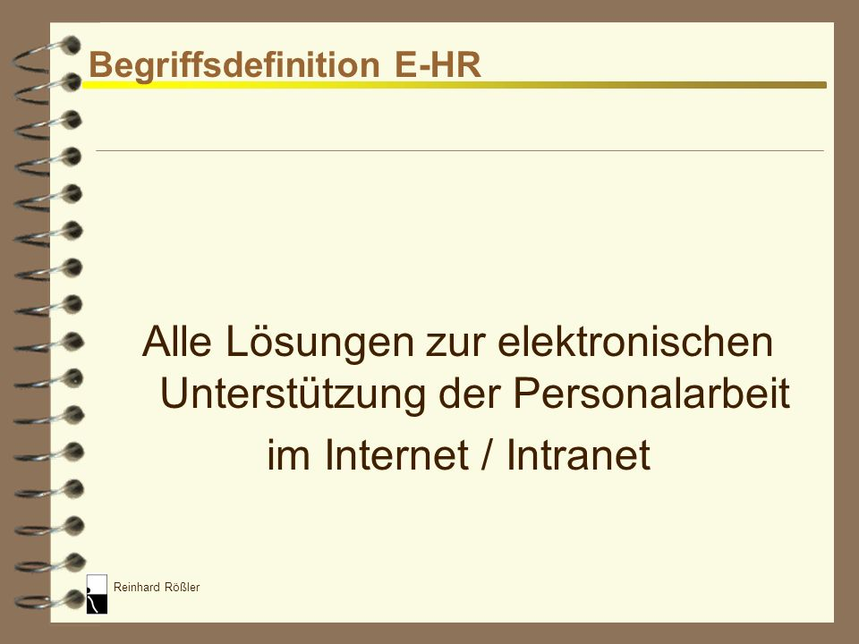 Begriffsdefinition E-HR