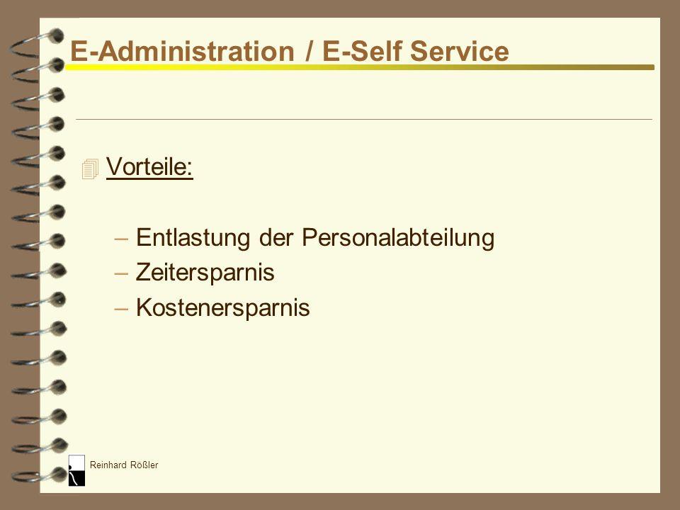 E-Administration / E-Self Service