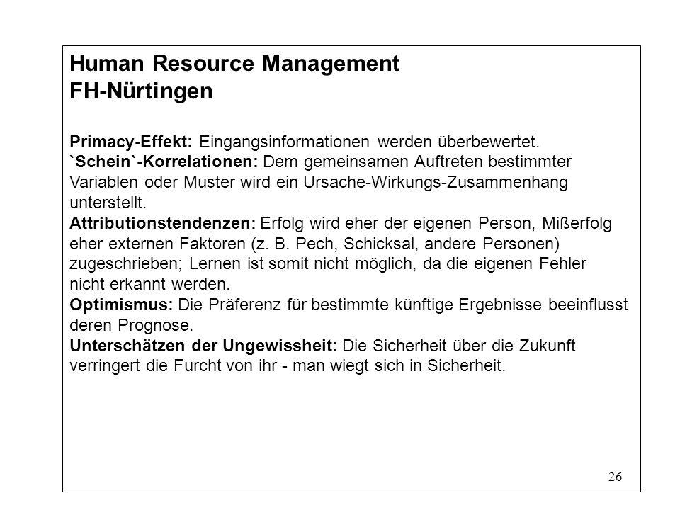 Human Resource Management FH-Nürtingen