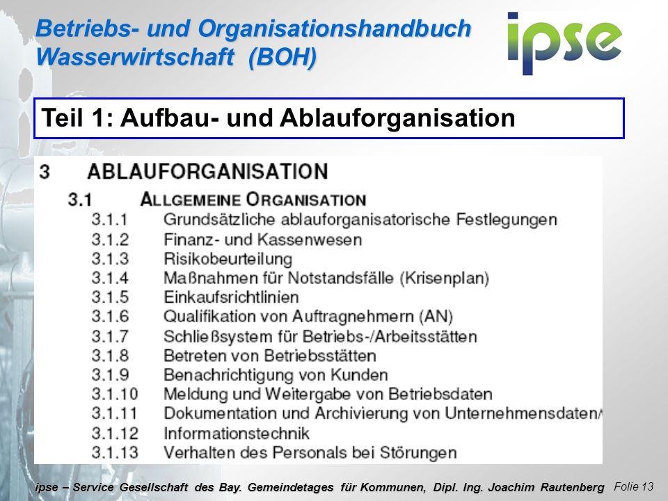 Teil 1: Aufbau- und Ablauforganisation