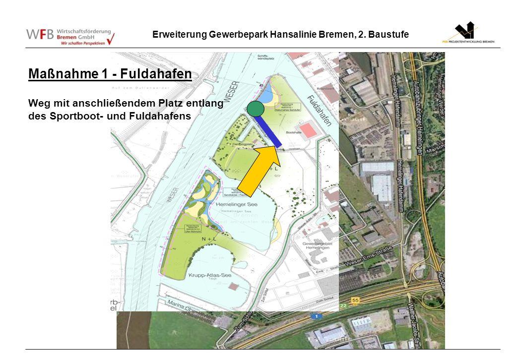 Maßnahme 1 - Fuldahafen Weg mit anschließendem Platz entlang des Sportboot- und Fuldahafens 2.