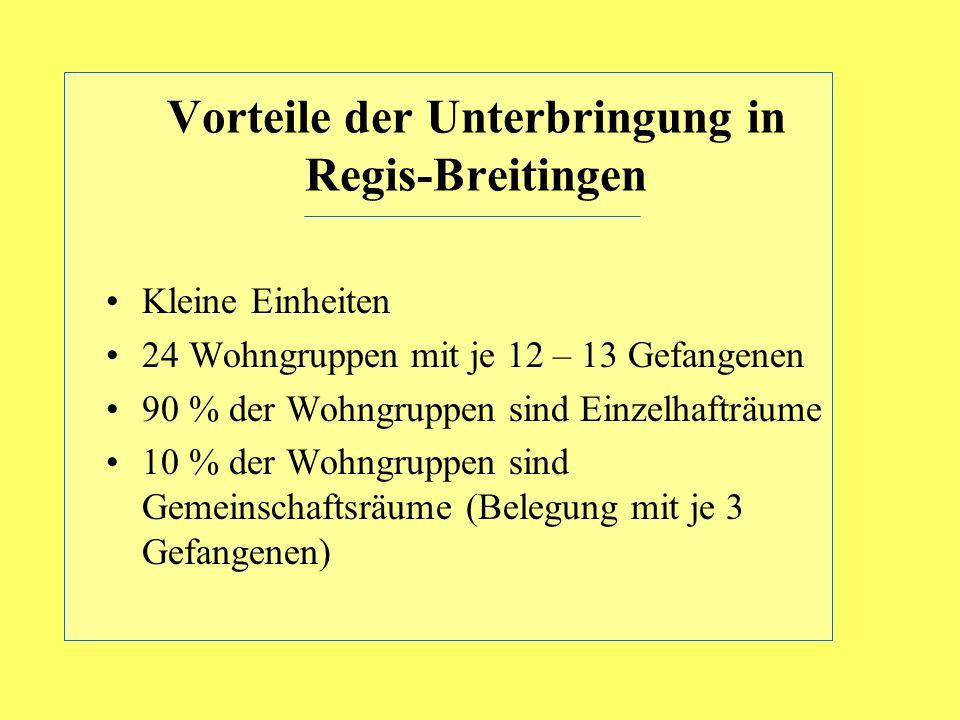 Vorteile der Unterbringung in Regis-Breitingen