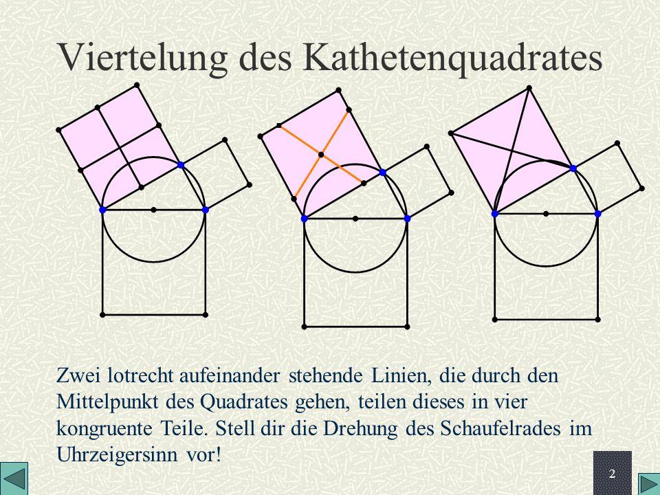 Viertelung des Kathetenquadrates