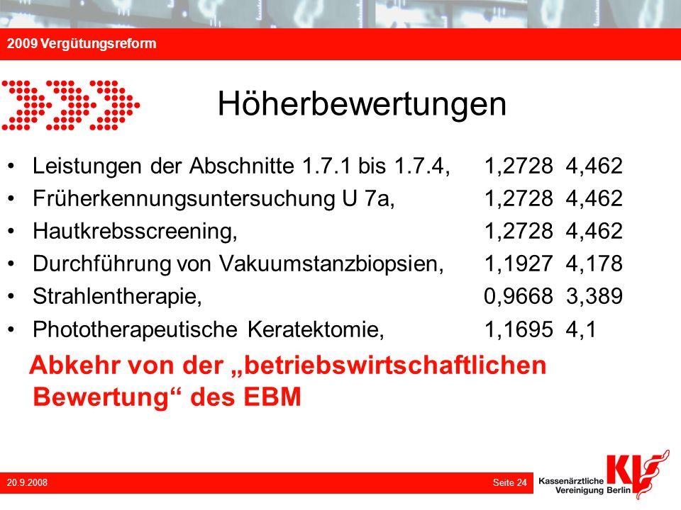 Höherbewertungen Leistungen der Abschnitte 1.7.1 bis 1.7.4, 1,2728 4,462. Früherkennungsuntersuchung U 7a, 1,2728 4,462.