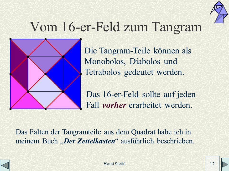 Vom 16-er-Feld zum Tangram
