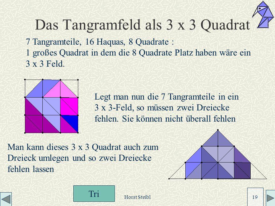 Das Tangramfeld als 3 x 3 Quadrat