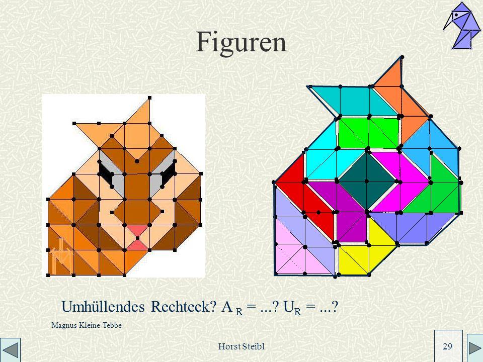 Figuren Umhüllendes Rechteck A R = ... UR = ... Horst Steibl