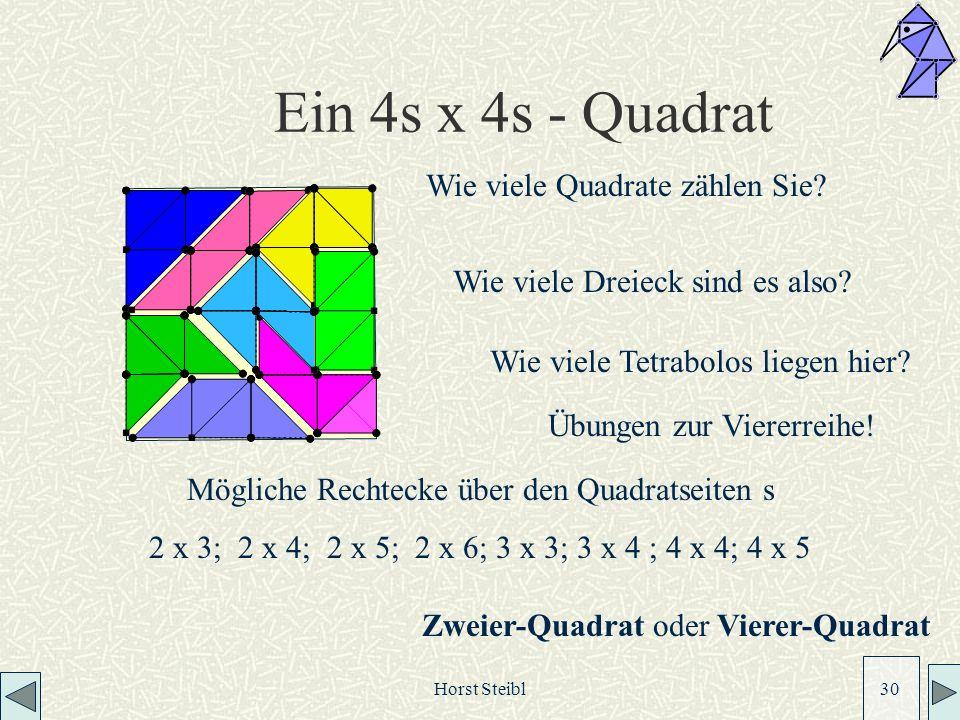 Ein 4s x 4s - Quadrat Wie viele Quadrate zählen Sie