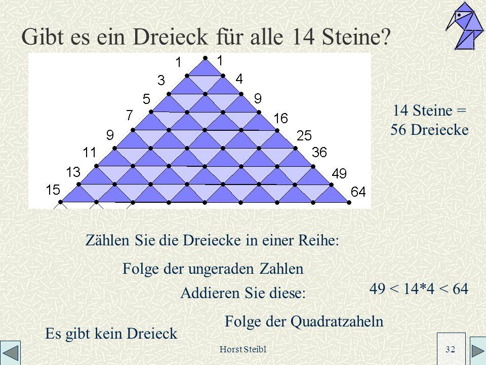 Gibt es ein Dreieck für alle 14 Steine