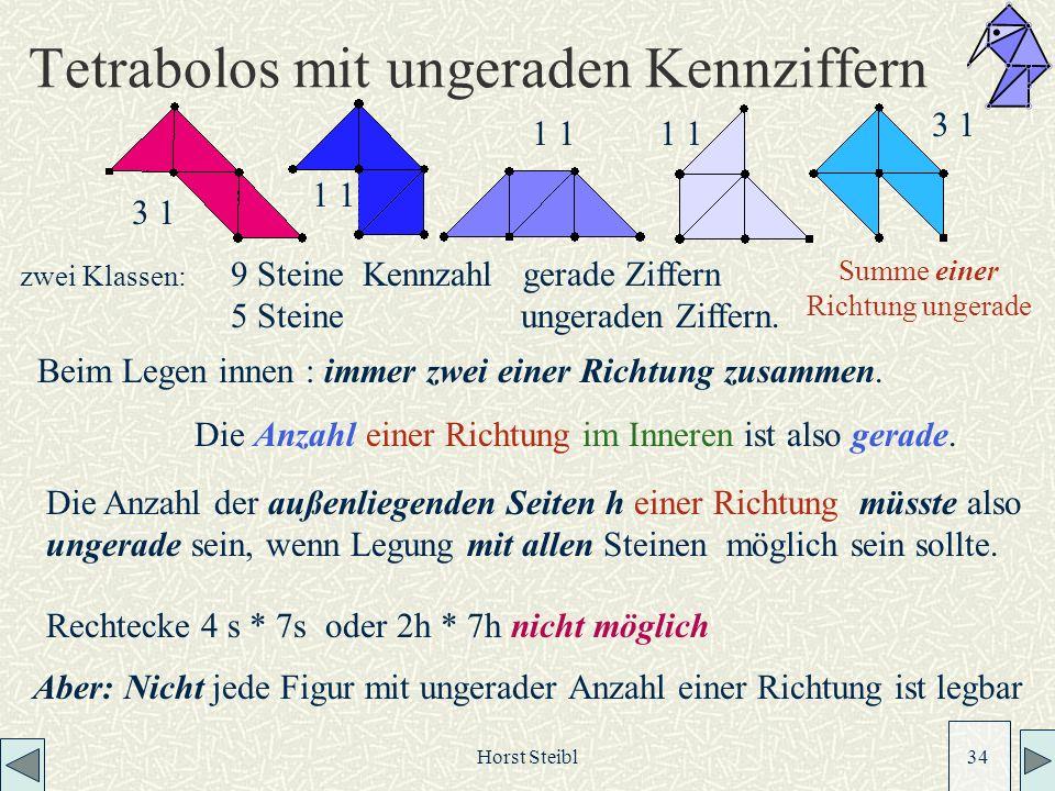 Tetrabolos mit ungeraden Kennziffern