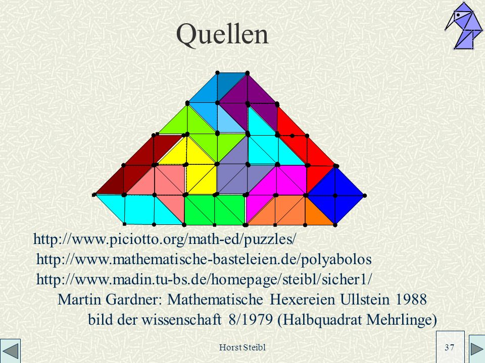 Quellen http://www.piciotto.org/math-ed/puzzles/