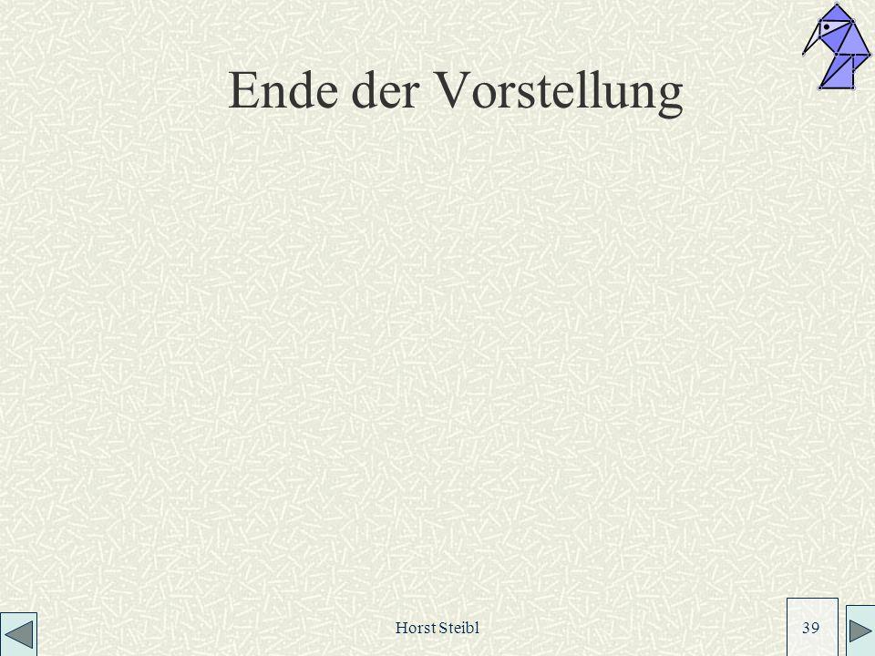 Ende der Vorstellung Horst Steibl