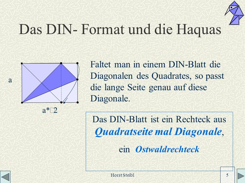 Das DIN- Format und die Haquas