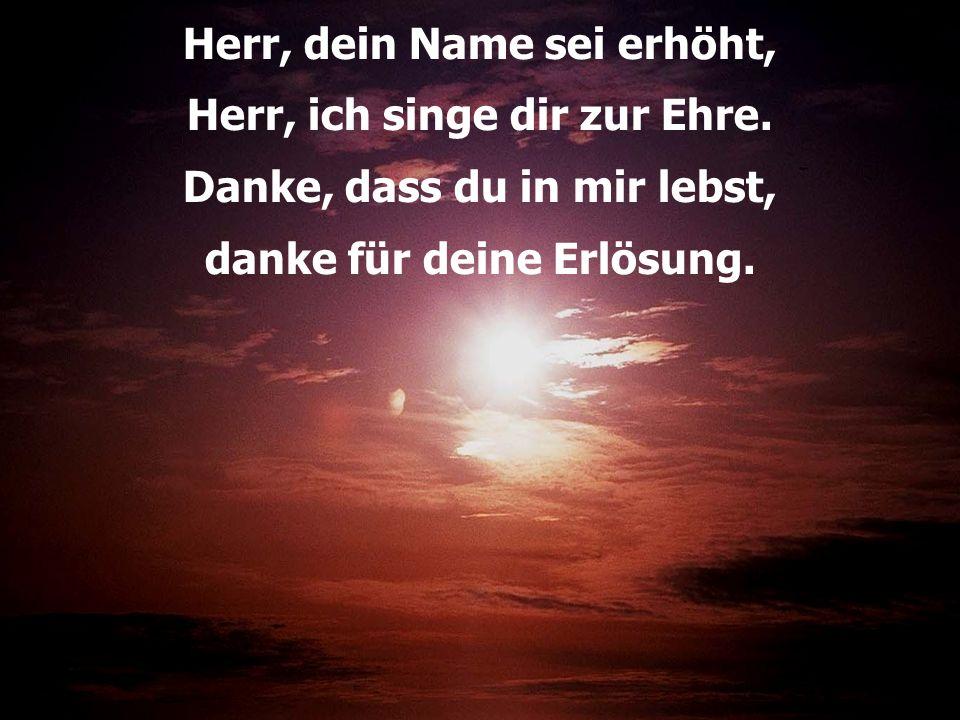 Herr, dein Name sei erhöht, Herr, ich singe dir zur Ehre.