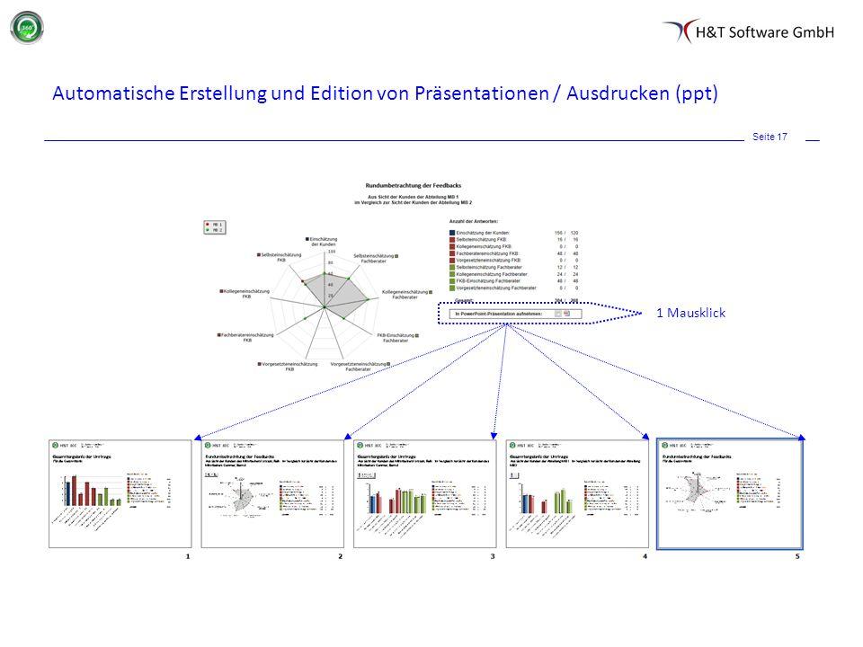 Automatische Erstellung und Edition von Präsentationen / Ausdrucken (ppt)