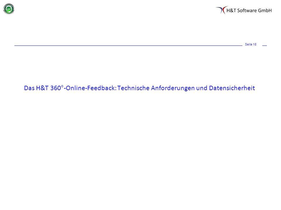 Das H&T 360°-Online-Feedback: Technische Anforderungen und Datensicherheit