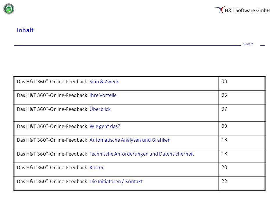 Inhalt Das H&T 360°-Online-Feedback: Sinn & Zweck 03