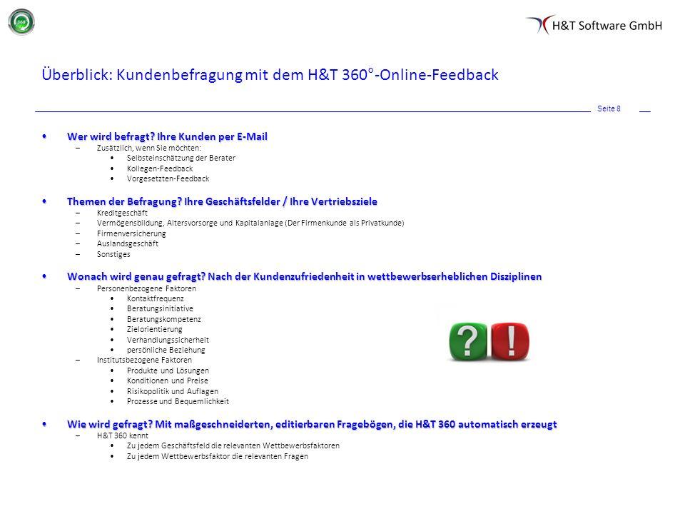Überblick: Kundenbefragung mit dem H&T 360°-Online-Feedback