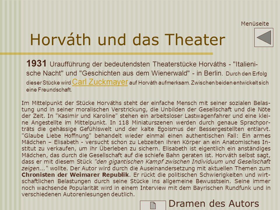 Horváth und das Theater