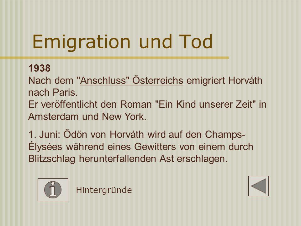 Emigration und Tod