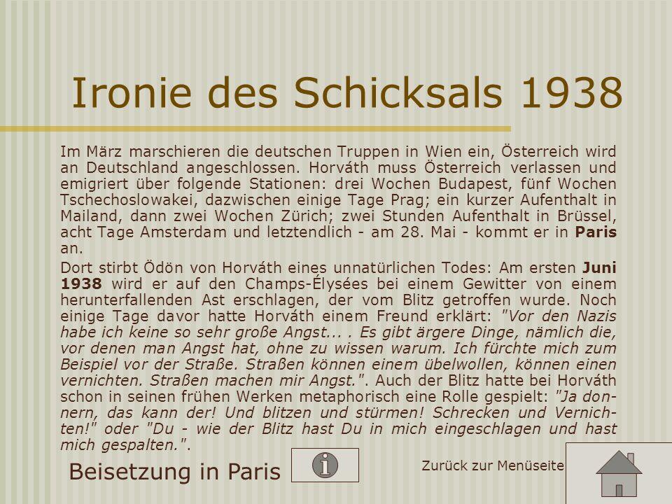 Ironie des Schicksals 1938 Beisetzung in Paris