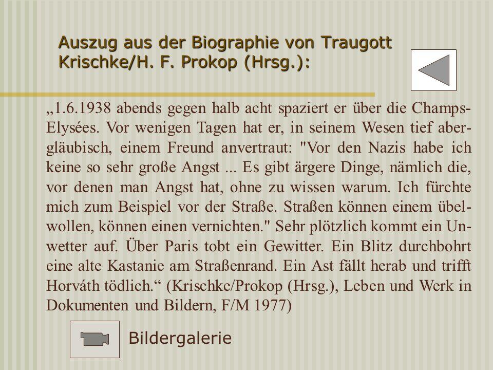 Auszug aus der Biographie von Traugott Krischke/H. F. Prokop (Hrsg.):