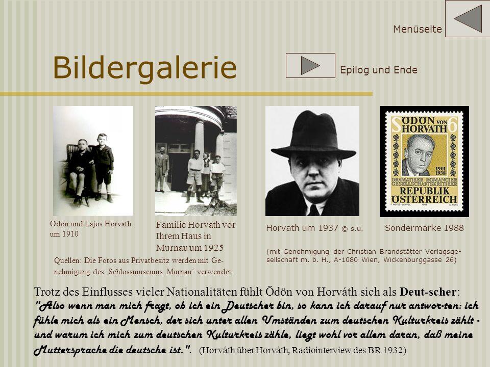 Menüseite Bildergalerie. Epilog und Ende. Ödön und Lajos Horvath um 1910. Familie Horvath vor Ihrem Haus in Murnau um 1925.