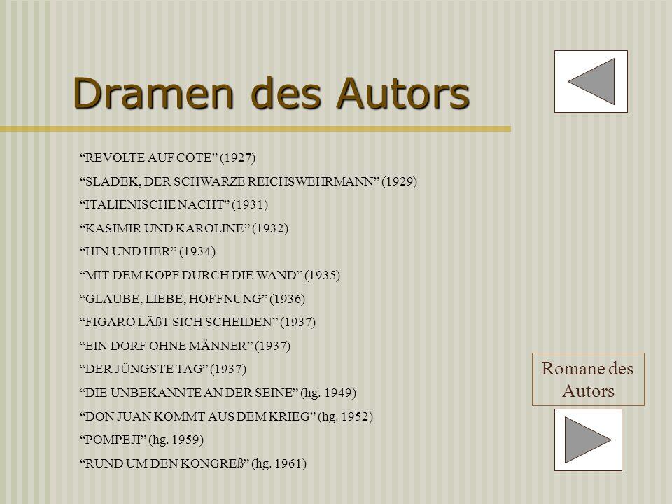 Dramen des Autors Romane des Autors REVOLTE AUF COTE (1927)