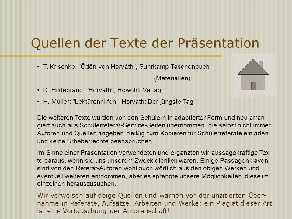 Quellen der Texte der Präsentation