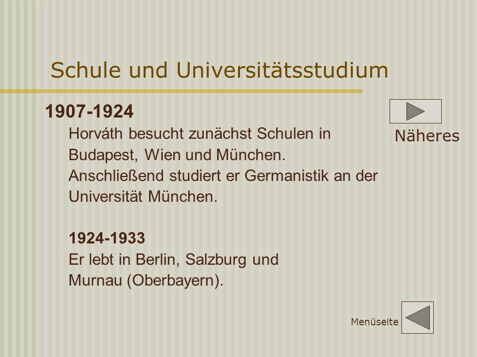 Schule und Universitätsstudium