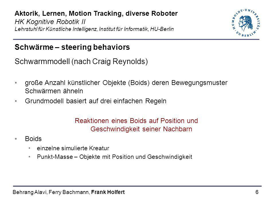 Schwärme – steering behaviors