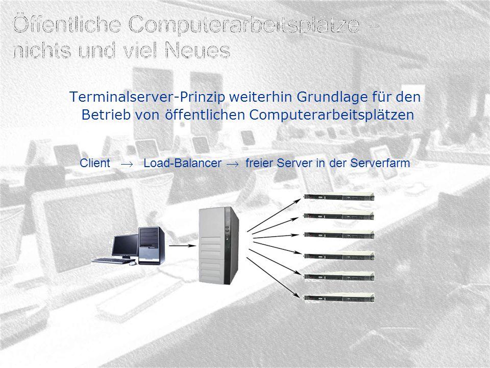 Terminalserver-Prinzip weiterhin Grundlage für den